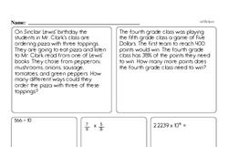 Order of Operations Worksheets - Free Printable Math PDFs Worksheet #7