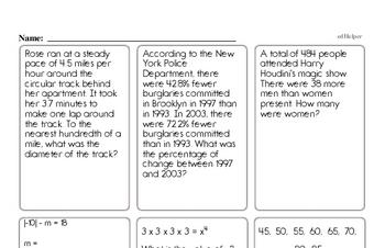 free sixth grade number sense pdf worksheets. Black Bedroom Furniture Sets. Home Design Ideas