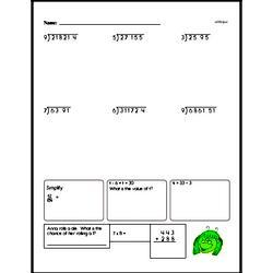 Sixth Grade Number Sense Worksheets Worksheet #13