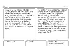 Sixth Grade Number Sense Worksheets Worksheet #17