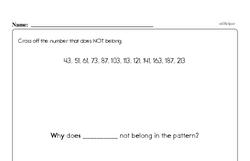 Sixth Grade Patterns Worksheets - Number Patterns Worksheet #1