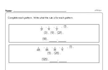 Pattern Math Problems Book