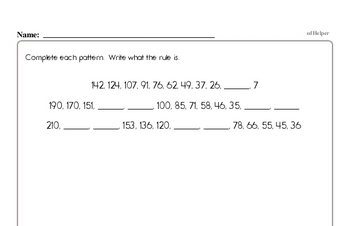 Patterns Mixed Math PDF Workbook for Sixth Graders