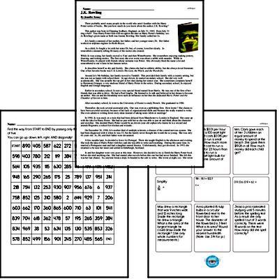 Free Sixth Grade Read and Math PDF Worksheets | edHelper com