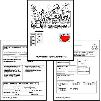 Sixth Grade Valentine's Day Worksheets Activity Book