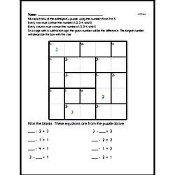 Addition Math Logic Puzzle