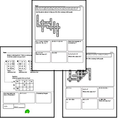 Subtraction Mixed Math PDF Workbook for Sixth Graders