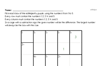 Subtraction Workbook (all teacher worksheets - large PDF)
