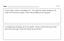 Fun Word Problems PDF Page