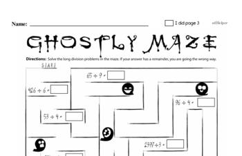 Halloween Math Challenge Workbook (more math, little more difficult)