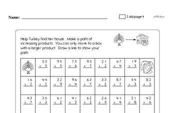 Sixth Grade Thanksgiving Activity Workbook