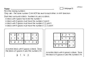 Valentine's Day Math Challenge Workbook