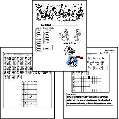 Sixth Grade Winter Activity No Prep Workbook Worksheets