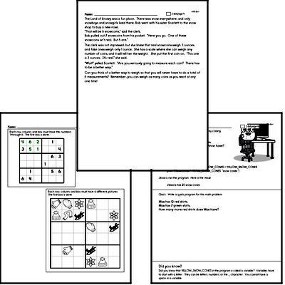 Sixth Grade Winter Math Challenge Workbook