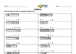 Addition within 10 Missing Number