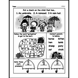 Free 1.OA.A.1 Common Core PDF Math Worksheets Worksheet #105