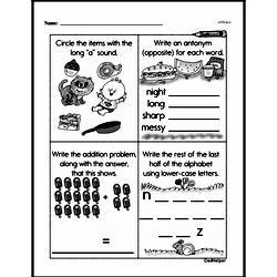 Free 1.OA.A.1 Common Core PDF Math Worksheets Worksheet #100
