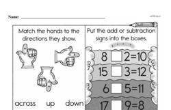 Free 1.OA.A.1 Common Core PDF Math Worksheets Worksheet #102