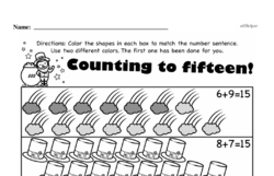 Free 1.OA.A.1 Common Core PDF Math Worksheets Worksheet #5