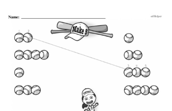 Addition - Addition within 5 Mixed Math PDF Workbook for Kindergarten