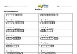 Addition within 10 Find Sum