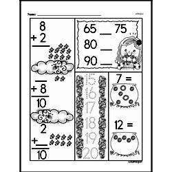 Addition Worksheets - Free Printable Math PDFs Worksheet #569