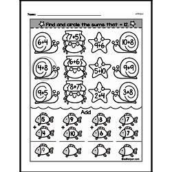 Addition Worksheets - Free Printable Math PDFs Worksheet #427