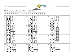 Using Dominoes to Teach Addition Within 10 Worksheet