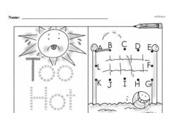 Kindergarten Data Worksheets Worksheet #9