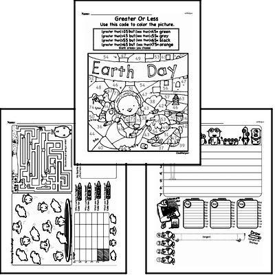 Data Mixed Math PDF Workbook for Kindergarten