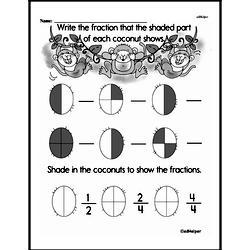 Kindergarten Fractions Worksheets Worksheet #1