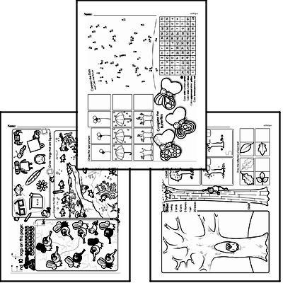 Geometry Mixed Math PDF Workbook for Kindergarten