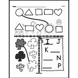 Kindergarten Geometry Worksheets Worksheet #14