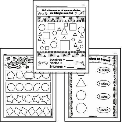 Kindergarten Geometry Worksheets Worksheet #1