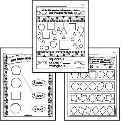 Kindergarten Geometry Worksheets Worksheet #2