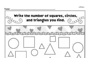 Kindergarten Geometry Worksheets Worksheet #3