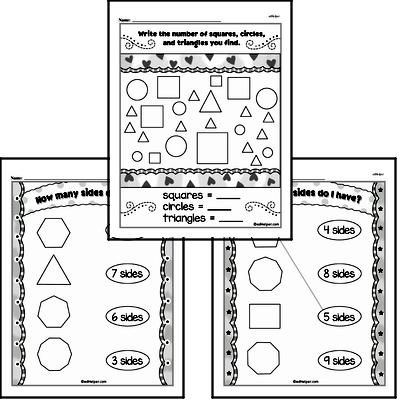Kindergarten Geometry Worksheets Worksheet #4