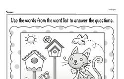 Kindergarten Geometry Worksheets Worksheet #7