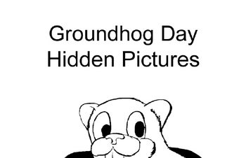 Groundhog Day - Hidden Pictures Coloring Book