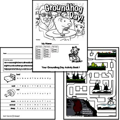 Kindergarten Groundhog Day Worksheets Activity Book