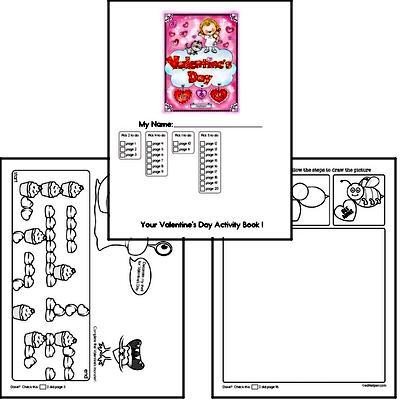 Kindergarten Valentine's Day Worksheets Activity Book