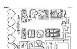 Kindergarten Math Challenges Worksheets - Puzzles and Brain Teasers Worksheet #8