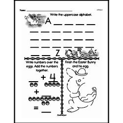 Kindergarten Math Challenges Worksheets - Puzzles and Brain Teasers Worksheet #60