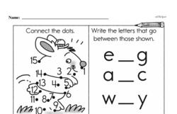 Kindergarten Math Challenges Worksheets - Puzzles and Brain Teasers Worksheet #77