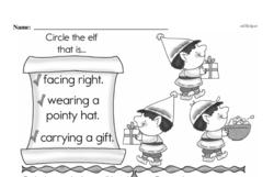 Kindergarten Math Challenges Worksheets - Puzzles and Brain Teasers Worksheet #88