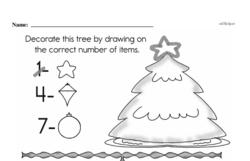 Kindergarten Math Challenges Worksheets - Puzzles and Brain Teasers Worksheet #65