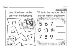 Kindergarten Math Challenges Worksheets - Puzzles and Brain Teasers Worksheet #81
