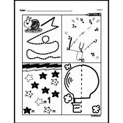 Kindergarten Math Challenges Worksheets - Puzzles and Brain Teasers Worksheet #92