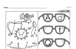 Kindergarten Math Challenges Worksheets - Puzzles and Brain Teasers Worksheet #56