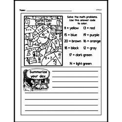 Kindergarten Math Challenges Worksheets - Puzzles and Brain Teasers Worksheet #39